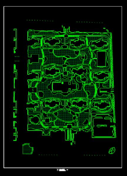 园林景观CAD图纸之草坪图
