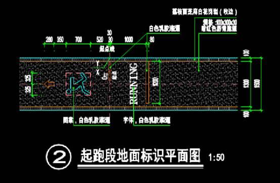 健康慢跑道的园林景观CAD图纸