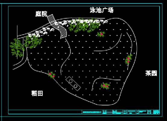 园林景观CAD图纸之山庄景观