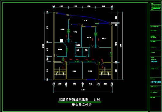 某学院的室内设计CAD软件装修图