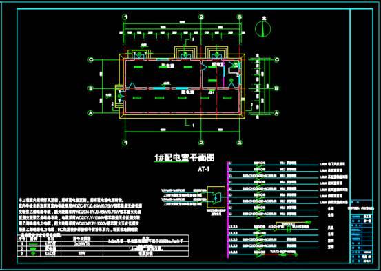 某配电室的建筑CAD图纸中电气图