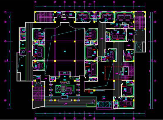 某夜总会的室内设计CAD软件装修图