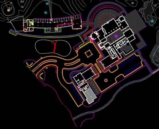 某球场的建筑设计CAD图纸
