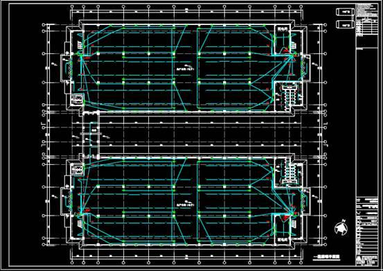 某厂房的建筑CAD图纸中电气图