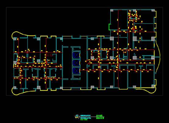 宾馆酒店建筑CAD图纸之室内布置