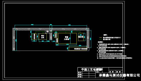 机械CAD软件设计方案之出口管材耐压平面图