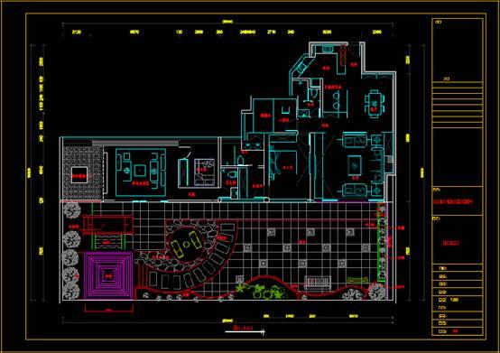某大户型房屋的室内设计CAD软件装修图