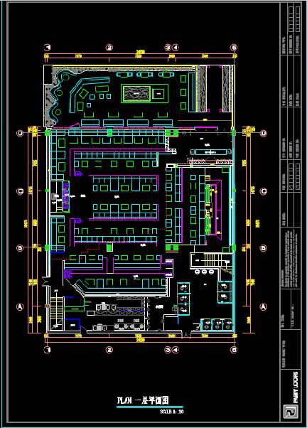 某浴室的室内设计CAD软件装修图