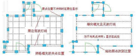 CAD建筑软件更改填充原点位置