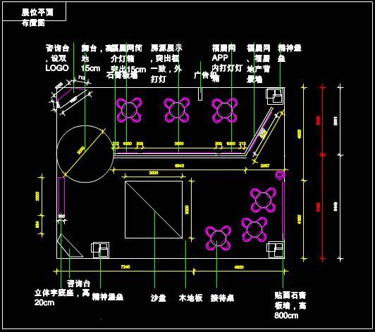 某展馆的建筑设计CAD图纸