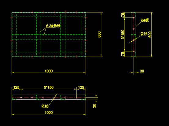 具体分块模板钢结构CAD图