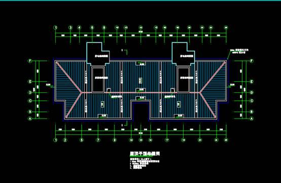平改坡项目CAD建筑设计中钢结构图纸