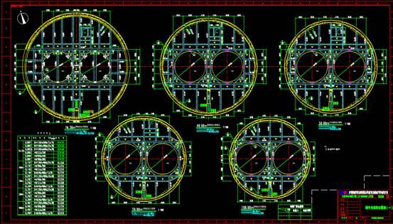 钢结构平台CAD设计布置图
