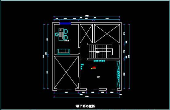 三层别墅建筑CAD家装施工图