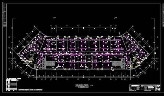 生产安置项目的给排水CAD图纸