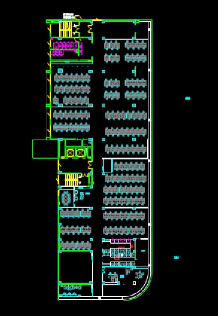 CAD建筑图纸快速查看之办公建筑平面图