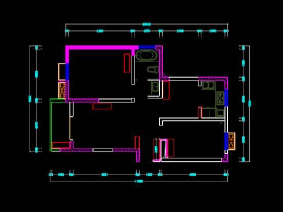 CAD建筑图纸快速查看之室内装修户型图