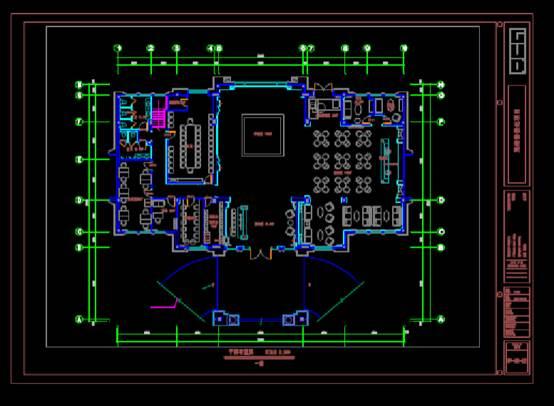 CAD建筑图纸快速查看之售楼处平面图