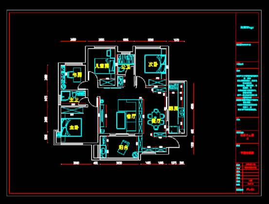 平面户型的建筑CAD图纸下载