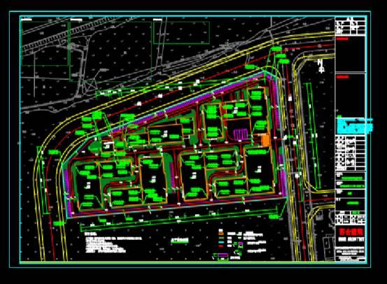 CAD建筑图纸快速查看之货车车位总图