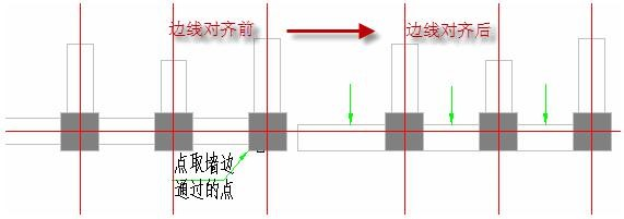 CAD建筑软件教程之边线对齐
