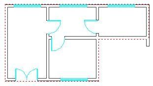 CAD建筑软件墙体教程之识别内外