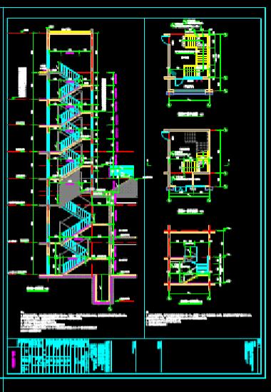楼梯详图的建筑设计CAD图纸