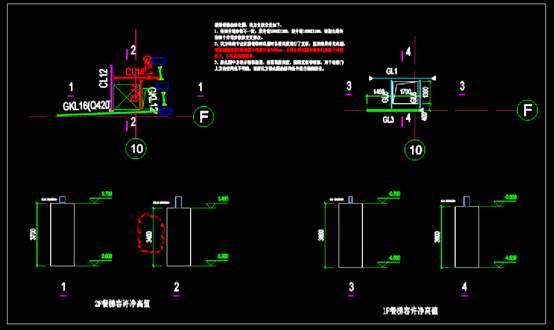 建筑设计CAD图纸之餐梯设计图