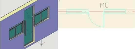 建筑CAD制图初学入门教程之组合门窗