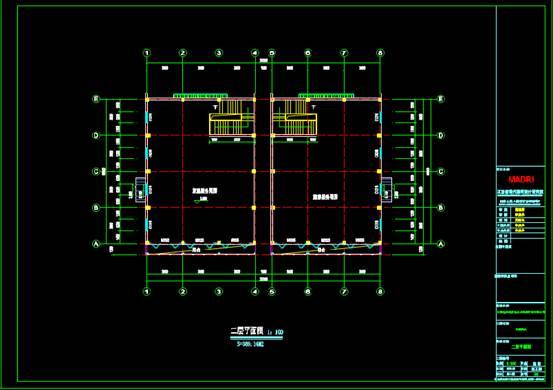 竹排码头服务站的CAD建筑工程图