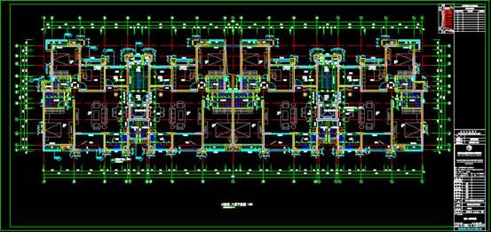 10#住宅楼的CAD建筑工程图