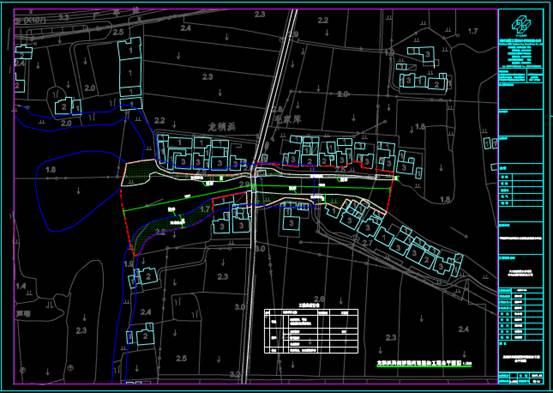 河道改造的CAD建筑工程图