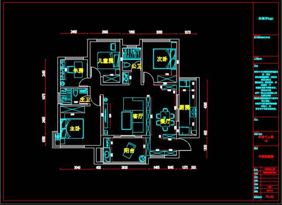 室内装修设计的CAD建筑施工图