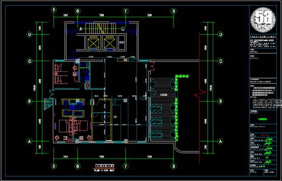 某阅览室的CAD建筑面积图
