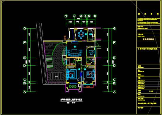 样板房装修的CAD建筑面积图