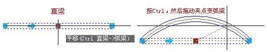 CAD制图初学入门教程中梁的夹点新功能