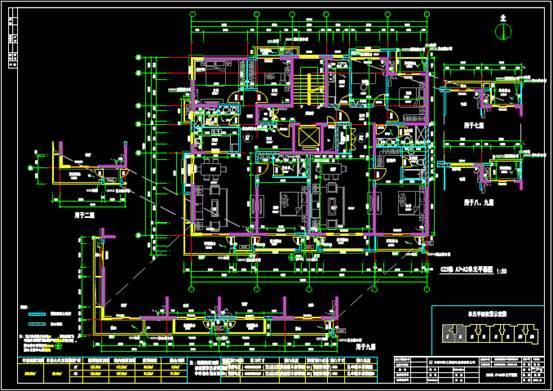 某沿海住宅的CAD建筑工程图