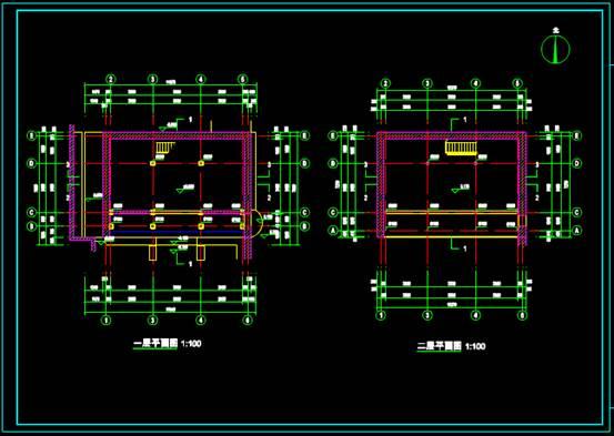 某厢房的CAD建筑工程图