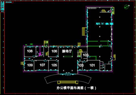 销售大楼的CAD建筑工程图