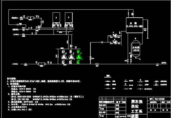 房东换热站工艺系统图