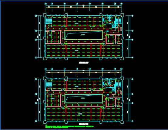 大华试验车间大楼CAD电气图纸