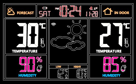 机械CAD图纸之天气钟设计