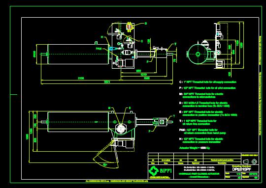 机械设备CAD图纸之液压传感器