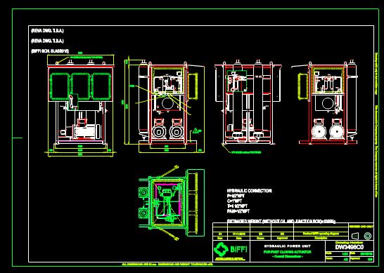 机械设备CAD图纸示意图之液压动力装置