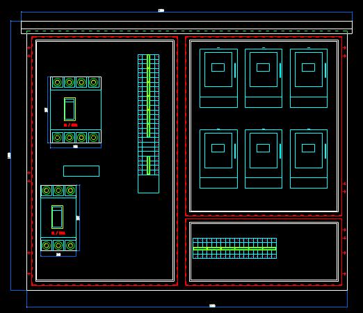 机械CAD图纸之配电箱壳体设计