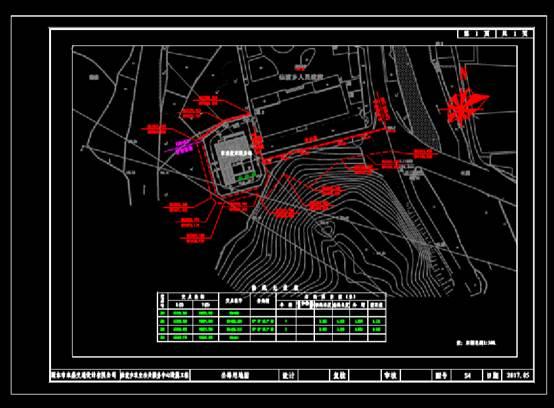 路桥设计CAD图纸之用地图