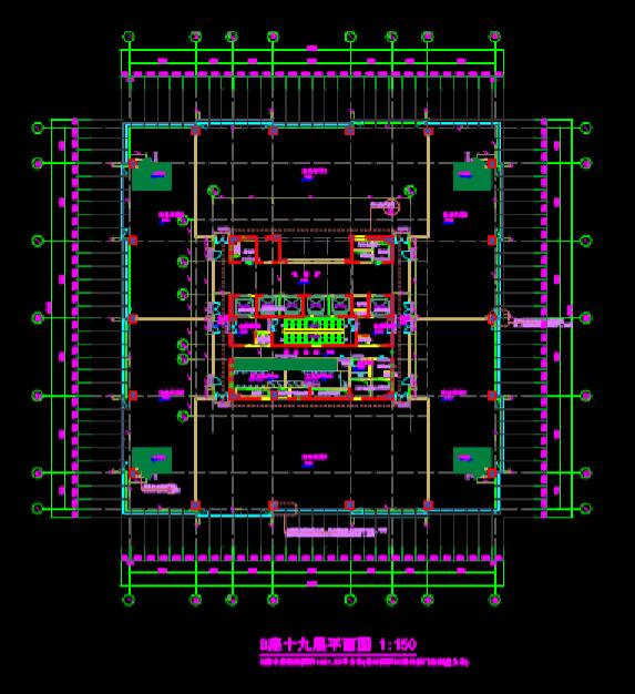 建筑设计CAD图纸之高层办公楼平面图