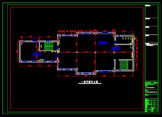 户外店CAD建筑装饰图纸的尺寸图