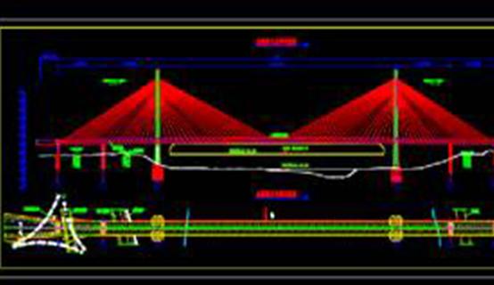 路桥设计CAD图纸之桥型方案设计