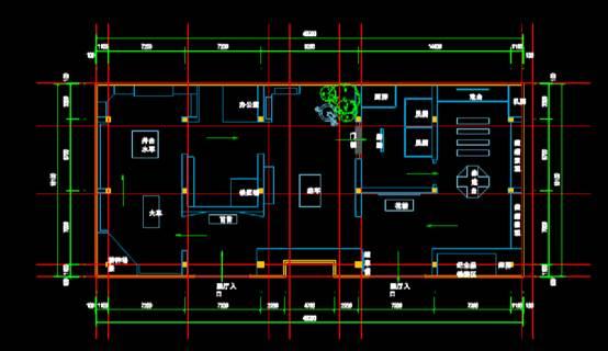 建筑设计CAD图纸之民俗博物馆